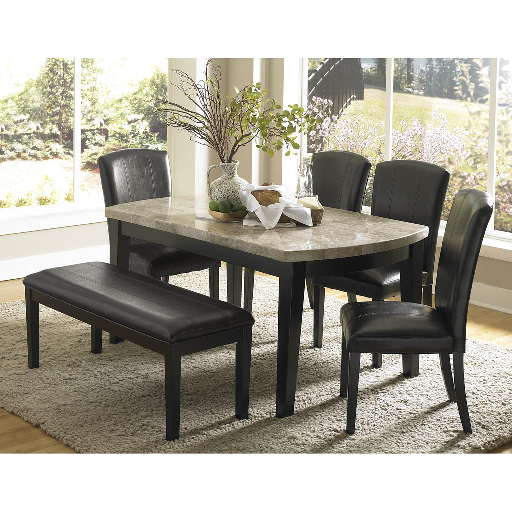 Homelegance Cristo Marble Top Dining Table in Black  sc 1 st  Beyond Stores & Homelegance Cristo Marble Top Dining Table in Black \u2013 Beyond Stores